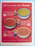 1963 Campbell's He-Man Soups w/Campbell Kids
