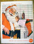 1957 Coca Cola (Coke) with Santa Claus By Fireplace