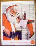 Click to view larger image of 1957 Coca Cola (Coke) with Santa Claus By Fireplace (Image2)