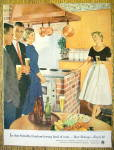1955 Showing Off The New Kitchen By Douglas Crockwell