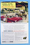 1954 Hertz Rent A Car w/ Group of People