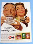 1963 Acme Coffee with Man Smelling Coffee