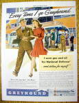1941 Greyhound with Man & Woman Walking Arm & Arm