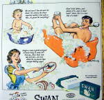 Click to view larger image of 1942 Swan Soap with Mom, Dad & Baby (Image2)