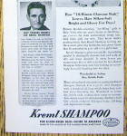 Click to view larger image of 1943 Kreml Shampoo with a Lovely Powers Model (Image3)