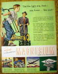 1946 Dow Magnesium with Boy & Man with Lawn Mowers