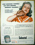 1946 Solventol HouseHold Cleaner w/Woman Punching Self