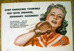 Click to view larger image of 1946 Solventol HouseHold Cleaner w/Woman Punching Self (Image2)