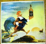 Click to view larger image of 1946 Schenley Whiskey with Rooster Holding Bottle (Image2)