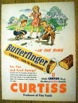1948 Curtiss Butterfinger w/Girl & Boys Playing Marbles