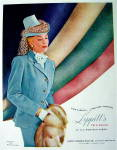 Click to view larger image of 1948 Lippitt Twillardine Fabric w/ Woman in Suit (Image2)