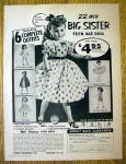 1957 Niresk Big Sister Teen Age Doll w/Different Outfit
