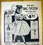 Click to view larger image of 1957 Niresk Big Sister Teen Age Doll w/Different Outfit (Image2)