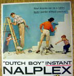 Click to view larger image of 1957 Dutch Boy Nalplex Paint with Family (Image2)