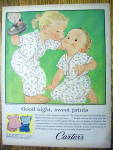 1958 Carter Dimple Knit Sleepers with Girl Kissing Boy