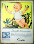1958 Carter Snap Fastened Shirt with Baby In Bird Nest