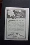 Click here to enlarge image and see more about item 1642: Vintage Ad: 1918 Hammermill Bond Paper Company