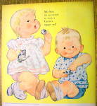 Click to view larger image of 1960 Carter Block Print Topper Sets with Boy and Girl (Image2)