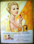 1960 Avon Topaze Fragrance with Avon Woman