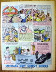 Click here to enlarge image and see more about item 16442: 1961 Boy Scout Shoes with First Class Adventures