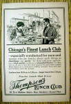 1912 Thompson's Lunch Club with Man at Counter