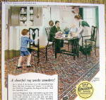 Click to view larger image of 1923 Congoleum Art Rugs with Family Eating Dinner (Image2)