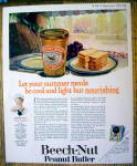Click to view larger image of 1924 Beech-Nut Peanut Butter with Bread On a Plate (Image1)
