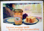 Click to view larger image of 1924 Beech-Nut Peanut Butter with Bread On a Plate (Image2)