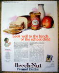 Click to view larger image of 1924 Beech-Nut Peanut Butter w/ Sandwich, Milk & Apple (Image1)