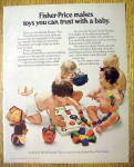 1973 Fisher Price Toys with Babies Playing with Toys