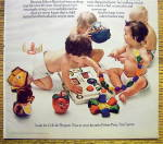 Click to view larger image of 1973 Fisher Price Toys with Babies Playing with Toys (Image2)