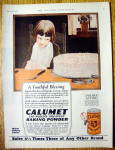 1926 Calumet Baking Powder with Boy Looking At Cake