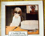 Click to view larger image of 1926 Calumet Baking Powder with Boy Looking At Cake (Image2)