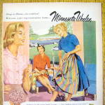 Click to view larger image of 1959 Minnesota Woolen with Woman With Skirt (Image2)