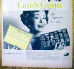 Click to view larger image of 1959 Western Union Candy Gram with Woman & Candy (Image2)