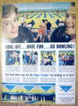 Click to view larger image of 1959 AMF Magic Triangle with People Bowling (Image1)