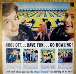 Click to view larger image of 1959 AMF Magic Triangle with People Bowling (Image2)