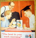 Click to view larger image of 1959 Kellogg's Corn Flakes with a Graduation Boy (Image2)