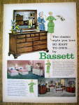 1959 Bassett Furniture with Women and Dresser