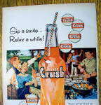 Click to view larger image of 1959 Orange Crush with People Barbecuing (Image2)