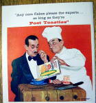 Click to view larger image of 1959 Post Toasties Corn Flakes w/Chef by Dick Sargent (Image2)