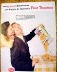 Click to view larger image of 1959 Post Toasties with Man Pouring Cereal into Bowl (Image2)