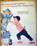 Click to view larger image of 1959 Post Alpha Bits w/Boy Pushing Cart Full of Cereal (Image2)