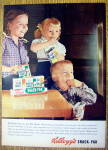 Click to view larger image of 1956 Kellogg's Snack Pak with 3 Children Watching TV (Image1)