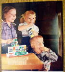 Click to view larger image of 1956 Kellogg's Snack Pak with 3 Children Watching TV (Image2)