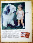 1968 Ken L Ration Burger with Little Girl with Her Dog