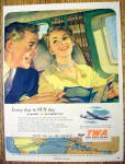 1952 Trans World Airlines (TWA) with man and woman