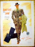 Click to view larger image of 1946 Botany 500 Suit with Man Wearing the Suit (Image1)