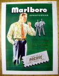 1946 Marlboro Sportswear with Man Lighting Cigarette