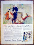 1927 Maxwell House Coffee with Butler Serving Coffee